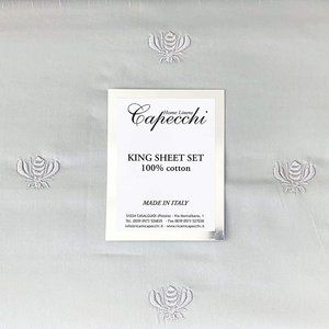 Capecchi Bee embroidered Sheet set Gray